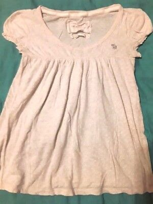 ABERCROMBIE girls sz 10 12 Medium beige and polka dot baby doll  shirt top for sale  Shipping to Canada