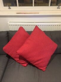 Red Cushions - Acceptable Condition - Nice accessory :)