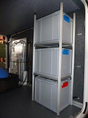 alu regal f r wohnmobil heckgarage garage incl. Black Bedroom Furniture Sets. Home Design Ideas