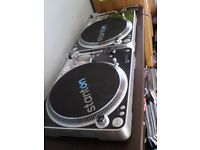 STANTON T.80 DIRECT DRIVE TURNTABLES WITH STANTON NEEDLES (REALLY GREAT DECKS FOR HOLDING A MIX)