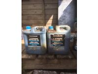 About 8 litres of outboard engine 2stroke oil . Quicksilver . Offers around £ 65