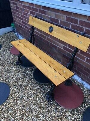 COALBROOKDALE FOUNDRY LIMITED 1/50 CAST IRON GARDEN/PARK BENCH