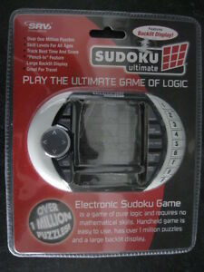 SVR SUDOKU ULTIMATE HANDHELD GAME ... BRAND NEW IN PACKAGE!