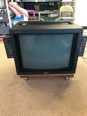 """Sony Trinitron PVM-2530 25"""" Video CRT with XPM-X5A speakers great retro gaming."""