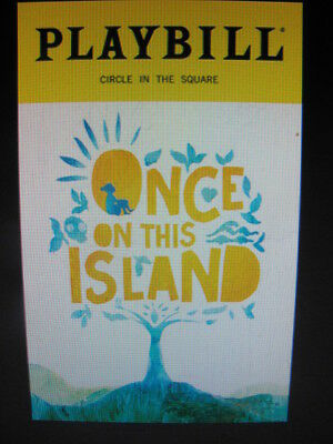 ONCE ON THIS ISLAND Playbill Broadway Musical New York Stephen Flaherty
