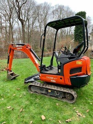 2019 Kubota Kx018 Mini Excavator With Warranty Until 0623