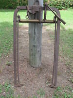 Antique hay fork and hay saw