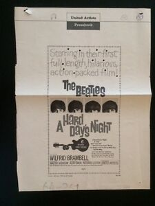 """Beatles """"A Hard Day's Night"""" Original 1964 Pressbook page"""