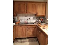 FREE Solid pine wood door kitchen cabinets and Neff double gas oven