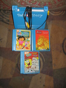 TeleStory Interactive Storybook System with 3Cartridge Books