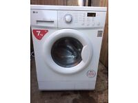 £109.00 LG new model washing machine+7kg+1400 spin+3 months warranty for £109.00