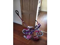 "Girls 12"" Bike with TWO Helmets"