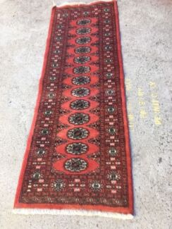 Rug Runner Persian Boukhara Pure Wool Hand Woven In Vgc