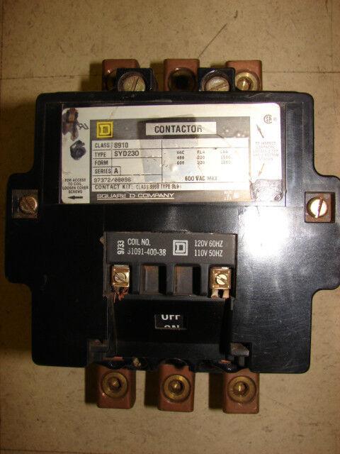 Square D Contactor(nema 4) 220 FLA 120v coil