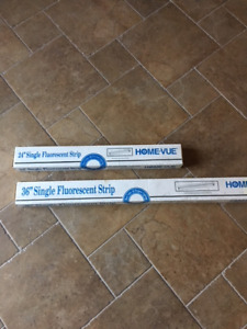 "NEW Single Fluorescent Tube Strip T12 Fixtures 24"" and 36"""