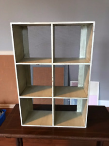 Country Chic Metal Cube Shelf with Mesh Backing