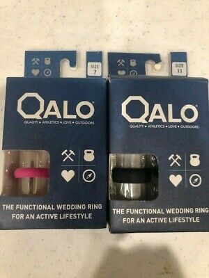 Qalo Effective Wedding Ring  ActiveWear NEW!! (HIS+HERS SET OF 2) Size 7W 11M