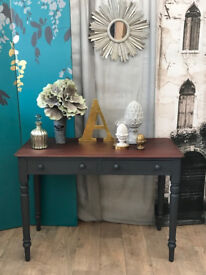 Shabby chic Victorian desk with two drawers
