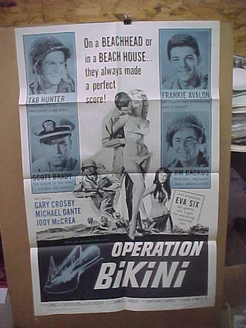 OPERATION BIKINI, orig 1-sht / movie poster (Tab Hunter, Frankie Avalon)