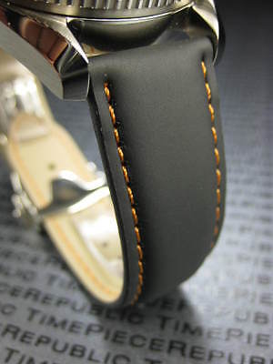 PU Rubber Strap Deployment Watch Band 20mm 22mm Black Seamaster Planet Ocean OR Seamaster Planet Ocean Rubber Strap