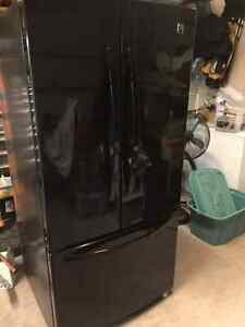 "Kenmore 33"" Black French Door with bottom Freezer"