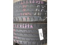 215/50/17 Continental Pair 6mm (East London, E13) Bmw, Vauxhall Part worn Tyres 205/225/235/55/45/60