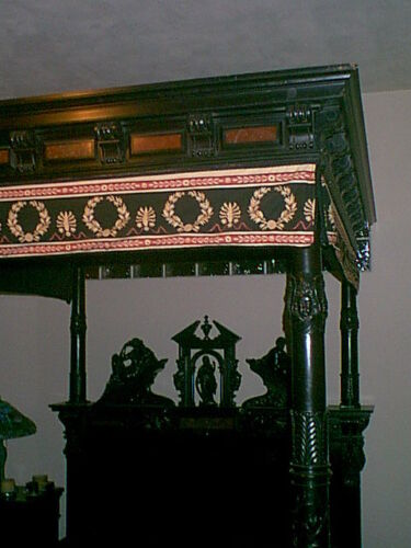antique canopy bed from Paris Exposition of 1878  all hand carved