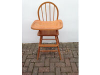 Wooden high chair