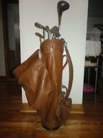 batons et sac de golf club and bag