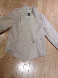 White Sheepskin Coat - Brand New!