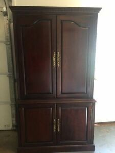 Cherry wood TV armoire (paid $500 6 years ago)