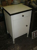 Antique Hospital Bedside Table /Night Stand