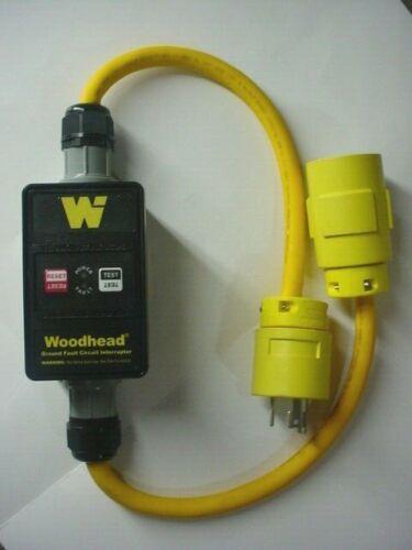 NEW Woodhead Molex SAFE-T-CHEK WATERTITE GFCI 120V 30A PLUG & Connector 30051-M1