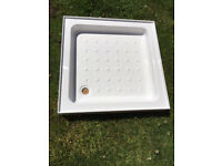 Shower Tray - Stone Resin High Wall - 760mm Square x 110mm depth - Never Used