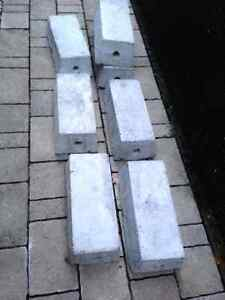 7 Concrete blocks for car shelter assembly