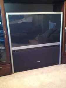 Great Condition Wooden and Glass Entertainment Hutch Strathcona County Edmonton Area image 3