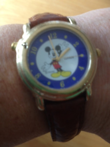 Lorus Mickey Mouse Watch with leather strap