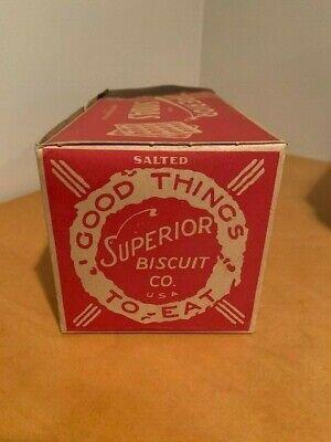 Vintage Superior Soda Cracker Box