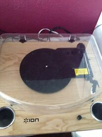Ion Vinyl turntable and USB to PC converter.