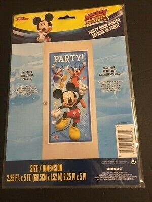 DISNEY MICKEY MOUSE birthday party decoration 5ft Door Banner Poster](Mickey Mouse Party Banner)