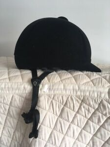 Black Velvet English Riding Helmet