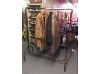 Vintage clothes rail on wheels 4ft length