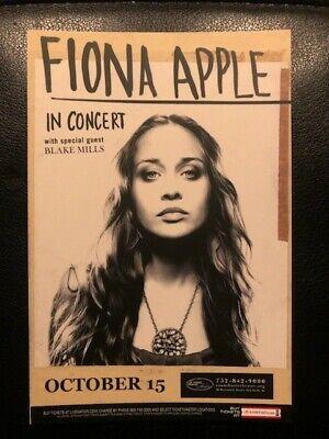 FIONA APPLE In Concert Mini Poster Card Promo Handbill 4x6 NEW Concert Mini Poster