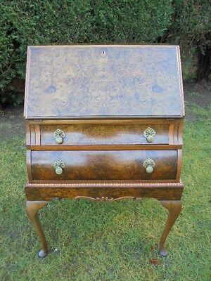 Small Antique Burr Walnut Ladies Writing Bureaux