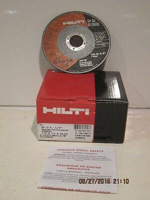 Hilti Sp-cut-off Wheel- 4.5 Diameter 436655 Ac-d 4-12 Box Of 25 Fship New