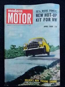 Vintage Modern Motor magazine, April 1958, Vol. 4, No. 11 Toorak Gardens Burnside Area Preview