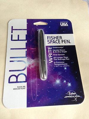 NEW Fisher Space Pen #400 Chrome Bullet #S400 MEDIUM BLACK SEALED