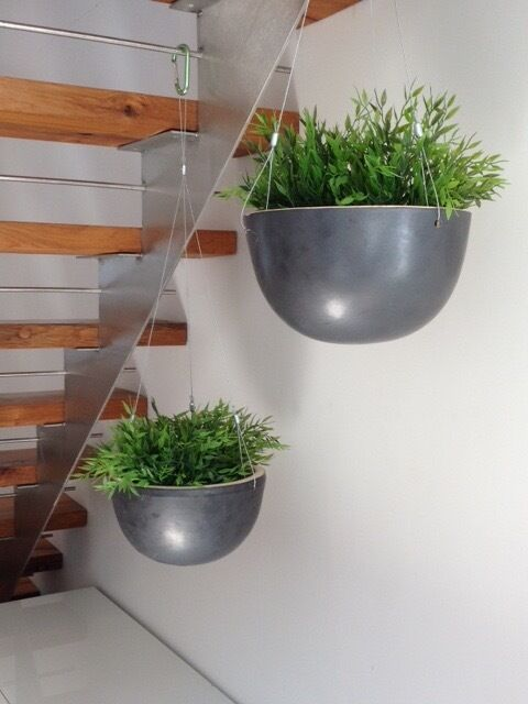 2 Identical Ceramic Hanging Planters Plant Pot From Ikea For Houseplants Plants Not
