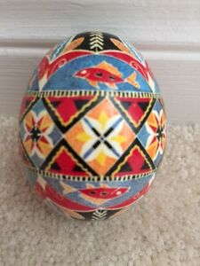 Pysanky painted egg