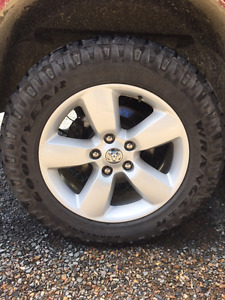 Dodge Ram 20 in alloy rims and tires